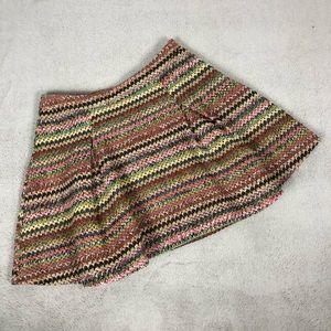 Honey Punch Woven Puff Mimi Skirt